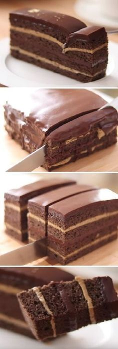 "Torta de café con Chocolate my Coffee Cake & Chocolate "" By HidaMari Cooking "" Si te gusta dinos HOLA y dale a Me Gusta MIREN … Brownie Recipes, Cake Recipes, Dessert Recipes, Chocolate Coffee, Chocolate Cake, Fondant Cakes, Cupcake Cakes, Cake Receta, Kolaci I Torte"