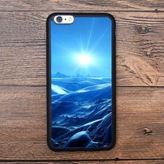 The dazzling sun and the rough sea in the blue world Case For IPhone