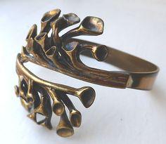 "Huge Finnish Bronze Bracelet ""Reindeer Moss"" Hannu Ikonen Finland | eBay"