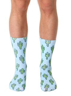 "GET YOUR PRICKLY PAIR OF SOCKS! *UNISEX *100% POLYESTER *MADE IN THE USA *ONE SIZE FITS MOST *WOMEN'S SHOE SIZE 4-12 *MENS SHOE SIZE 6-13 *13"" L X 4"" W"