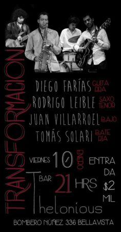 Afiche concierto TRANSFORMACIÓN, enero 2014. Original.