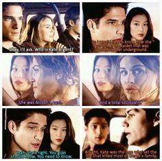 "#TeenWolf 4x01 ""The Dark Moon"" - Malia, Kira, Lydia, Stiles and Scott"
