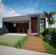 Modern Exterior House Designs, Dream House Exterior, Modern House Design, Model House Plan, My House Plans, House Front Design, Small House Design, Home Building Design, Building A House