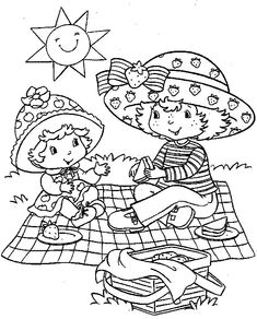 Strawberry Shortcake coloring pages 6/8/13 - At http://www.freekidscoloringandcrafts.com/b40.htm