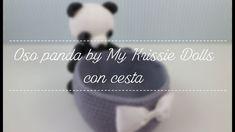 Mis amigurumis terminados: oso panda by My Krissie Dolls con cesta.