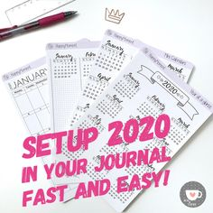 Excited to share this item from my shop: Bullet Journal Future Log sticker for 2020 Journal Stickers, Planner Stickers, Printable Stickers, Printable Planner, First Trimester, Busy Life, Sticker Paper, A5, Paper Goods