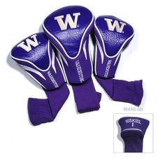 Team Golf University of Washington Contour Sock Head Covers 3-Pack - Golf Equipment, Collegiate Golf Products at Academy Sports