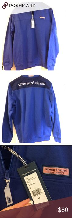 VINEYARD VINES PULLOVER LOGO SHEP SHIRT NWT!! Sheep pullover with Large logo on back. Men's M but also fits like a women's L. Super cozy! Also on Mercari. Make an offer!!! Vineyard Vines Jackets & Coats Lightweight & Shirt Jackets