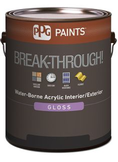 Breakthrough by Vanex - great option for painting linoleum flooring, high gloss finish