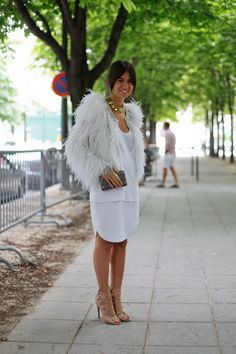 feathers // alaia   #Streetstyle For more street style, please see my street style I board