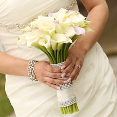 Simple bouquet with some bling.