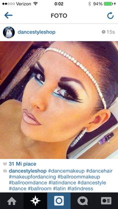latin make up #ballroom makeup