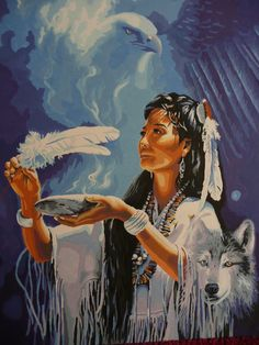 Native American Art Paintings spirit animals | native american spirit by Crotchmonsoon on deviantART