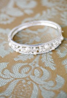 Nice band to match a pearl engagement ring...frankly I'd love to even just have this as the engagement ring. It's *gorgeous*