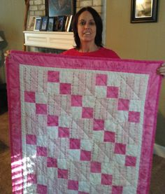 "Made by Natasha for the organization ""Quilts for Kids"""