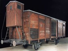 The railcar on display in the Museum's Permanent Exhibition. Courtesy of Polskie Koleje Panstwow S.A. <i>US Holocaust Memorial Museum</i>