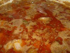 Dinsztelt csirkemáj rizzsel recept lépés 3 foto Pepperoni, Chili, Soup, Chile, Soups, Chilis