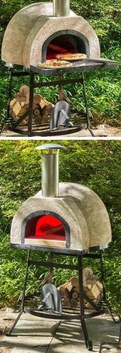 Four à pizza bois : Outdoor Wood Fired Oven – Holz Wood Fired Oven, Wood Fired Pizza, Pizza Oven Outdoor, Outdoor Cooking, Outdoor Fire, Outdoor Living, Outdoor Decor, Patio Swing, Outdoor Projects