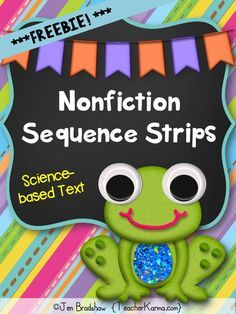 Nonfiction Sequence Strips ~ This reading activity may be used as a literacy center / station, small group instruction, individual practice, or intervention / RTI group.  TeacherKarma.com