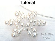 Beading Patterns  Beaded Snowflake Tutorial  Jewelry Making