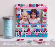 great kids craft idea - best friends forever frame by Rebecca Keppel at therm-o-web blog