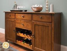 4. Select a Server~ Servers are all about function, so they're great for casual dining rooms. We'd say storing wine is very important function.