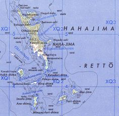 Karte der Hahajima-Inselkette ◆Ogasawara-guntō – Wikipedia http://de.wikipedia.org/wiki/Ogasawara-gunt%C5%8D #Ogasawara_Islands #Bonin_Islands