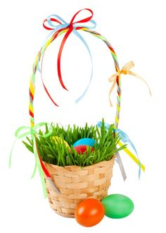 Grow your Own Easter Basket- make easter extra special with a real Grass easter basket, click on the photo for complete directions!