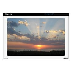 """Baltic Sea Sunset with Rays of Light 17"""" Laptop Decals #sold on #Zazzle"""