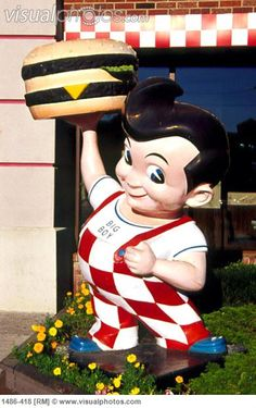 Big Boy Restaurant, Detroit, Michigan, USA --who remembers this place?????