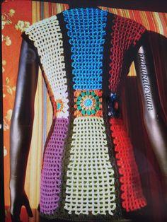 Transcendent Crochet a Solid Granny Square Ideas. Inconceivable Crochet a Solid Granny Square Ideas. Crochet Coat, Crochet Jacket, Crochet Clothes, Granny Square Crochet Pattern, Crochet Granny, Crochet Designs, Crochet Patterns, Crochet Fashion, Vintage Fashion