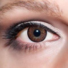 Braune Kontaktlinsen farbige dunkelbraune Linsen von KwikSibs, 2-farbig auch mit Stärken