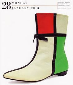 Mondrian inspired boot, c. 1965