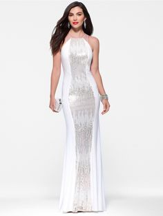 An Alternative To A Traditional Wedding Dress Ivory Sequin Cascade Gown By Cache 318 Women S