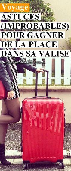 Jamais assez de place dans sa valise pour emporter tout ce que vous voulez ? Découvrez les astuces pour gagner un maximum de place et pouvoir tout emporter en voyage. #voyage #bagages #vacances