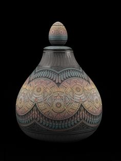 Marvin Blackmore, Hand Etched Ojja, A Fire Within | American Craft Council