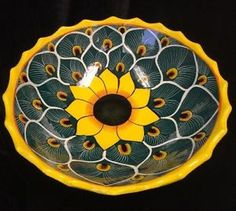 Pottery Bowls, Pottery Ideas, Ceramic Pottery, Work Project, Project Ideas, Edible Oil, Tall Flowers, Talavera Pottery, Southwest Decor