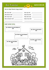 Učíme sa po nemecky - 3. časť - Die Familie - Aktivity pre deti, pracovné listy, online testy a iné Bingo, German, It Cast, Teaching, Youtube, Deutsch, German Language, Education, Youtubers