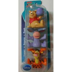 """Fisher Price Disney """"Pooh, Tigger & Eeyore"""" Stacking Friends by Fisher Price. $12.89. Stacking Figures Include Tigger, Eeyore and Pooh. Great for imaginative play, stack, pretend and play."""