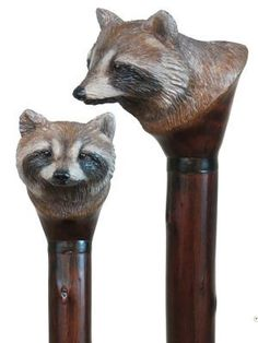 Custom Hand carved wood walking staffs, carved wood hiking staffs, carved hiking sticks by Ivan Wilson of Wilson Staffs
