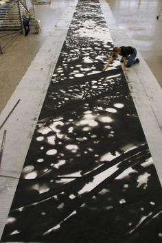 Preserved Places<br />Charcoal on paper<br /> 2x40 m