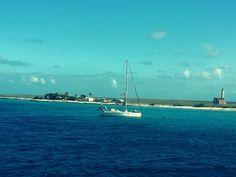 Boottocht naar het onbewoonde eiland Klein Curaçao. #Desert #Island #Little #Curaçao