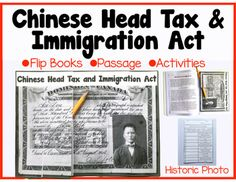 Chinese Head Tax and Immigration Act: Past Canadian Discri Canadian Law, Canadian History, American History, World History Teaching, World History Lessons, Social Studies Worksheets, Teaching Social Studies, Book Passage, Teaching Career
