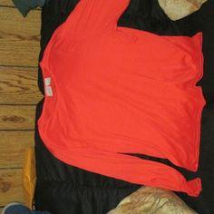 Fiorlini long sleeve shirt Melon colored long sleeve shirt Tops Blouses