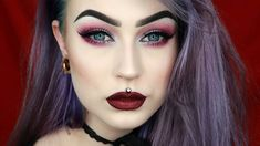 Silver & Purple Holiday Festive Glam Makeup | Evelina Forsell