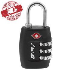 BV TSA Luggage Suitcase Lock, 3 Digit Combination Re-settable, Padlock, NEW BV-TL01 Specifications Combination Resettable to 1,000 Possibilities Mater... #combination #resettable #code #digit #suitcase #travel #luggage #lock