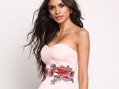 Naszywka duża róża róże kwiaty haft (sukienka)