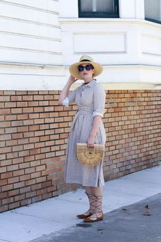 Wannabe Fashion Blogger | Dainty Jewell's modest Merry Go Round Dress in Almond Tan