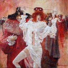 "Marcel Nino Pajot - ""La Coccinelle"" Marcel, Clown Faces, Carnival Costumes, Masquerade, Les Oeuvres, Modern Art, Concept Art, Erotic, Sketches"