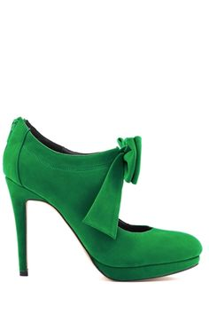 Suede Bowknot Hollow Out Pumps